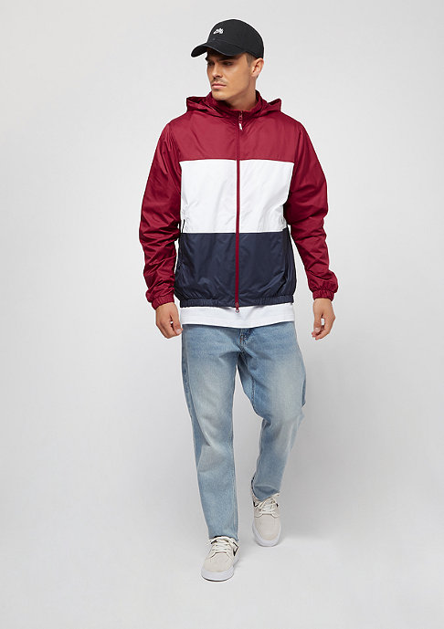 NIKE SB Dry Hooded Stripe red crush/white/obsidian