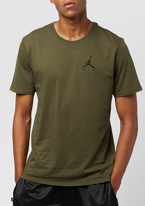 JORDAN Jumpman Air Embrd olive canvas/black
