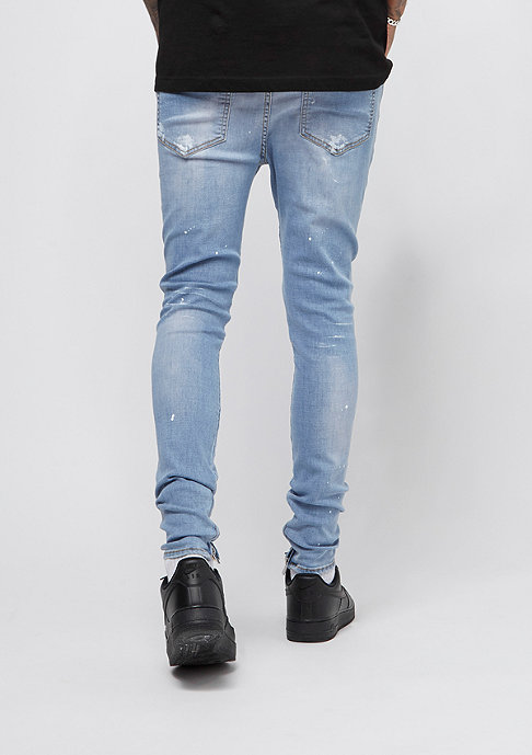 Sixth June Denim With White Paint blue