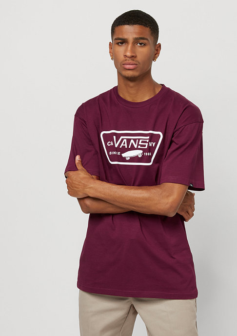 VANS Full Patch burgundy/white
