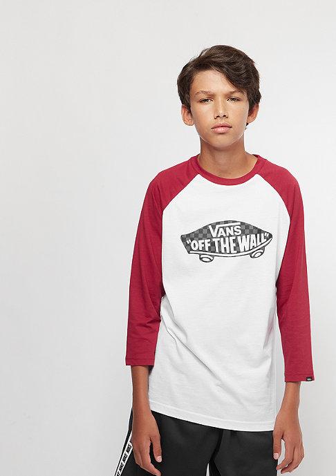 VANS Junior OTW Raglan Boys white/cardinal