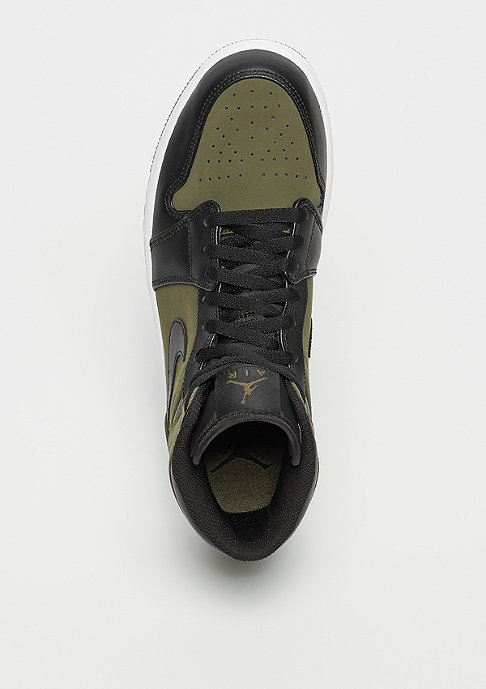 JORDAN Air Jordan 1 Mid olive canvas/black/white