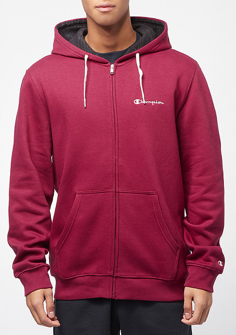 Champion American Classics Zip bordeaux/heather black