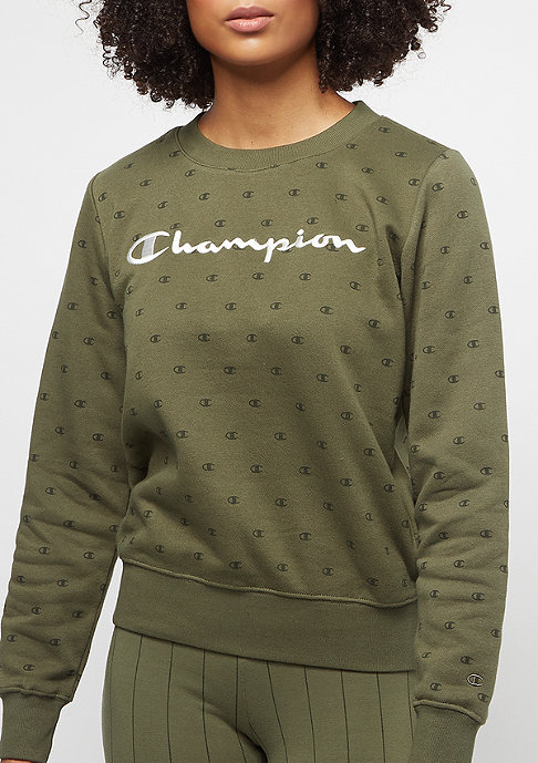 Champion American Classics Crew AOP dark olive/multicolor