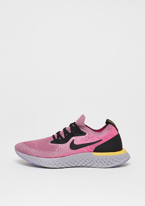 NIKE Running Epic React Flyknit (GS) plum dust/black-pink blast-amarillo