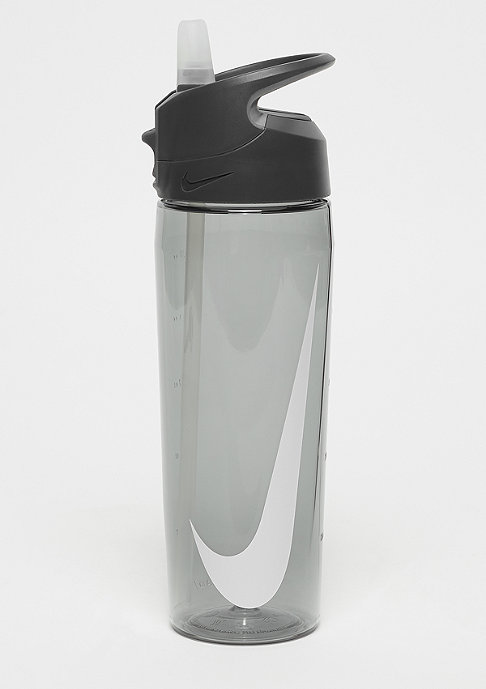 NIKE Hypercharge Straw Bottle 709ml anthracite/cool grey/white