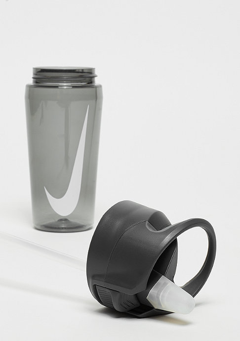NIKE Hypercharge Straw Bottle 473ml anthracite/cool grey/white