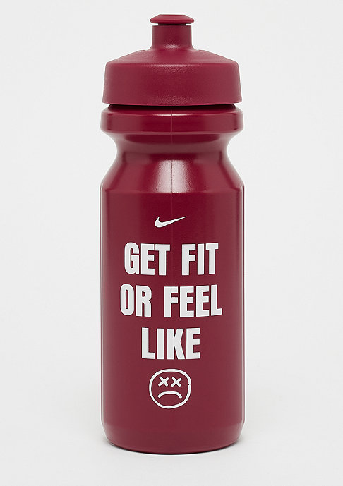 NIKE Big Mouth Graphic Water Bottle 650ml rush red/rush red/white
