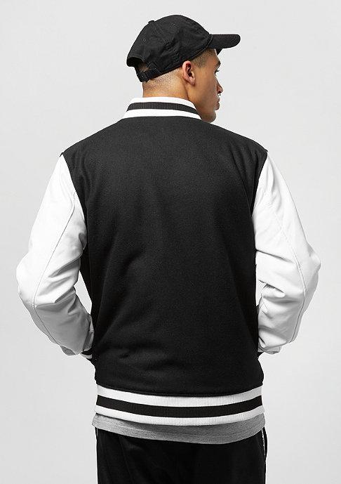 New Era Contrast Varsity Jacket NBA Chicago Bulls black white