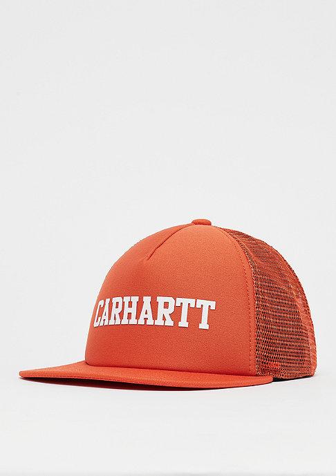 Carhartt WIP College Trucker Cap persimmon/white