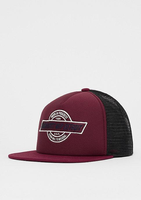 Carhartt WIP College Trucker Cap mulberry/black