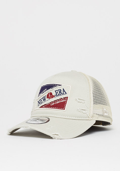 New Era 9Forty Tri Block Patch Trucker stone