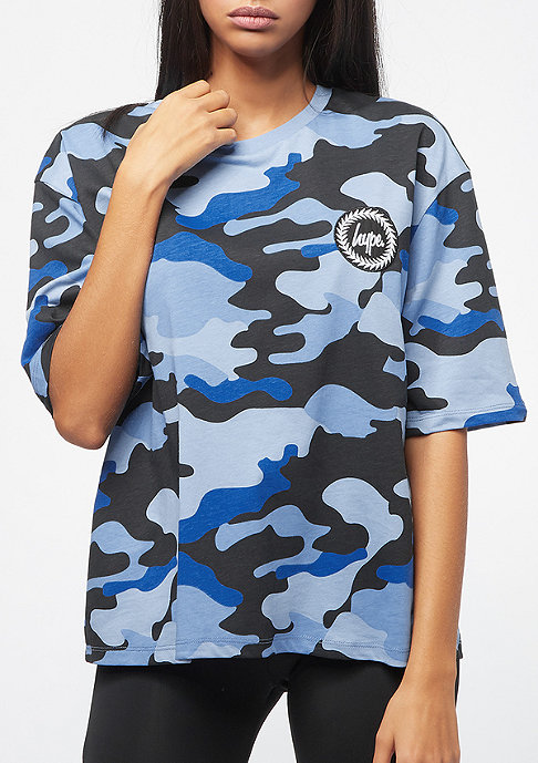 Hype Camo Drop Shoulder blue