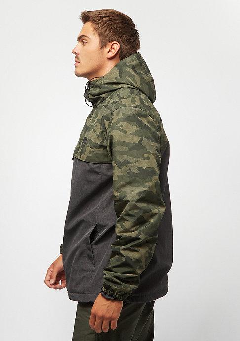 Iriedaily Gridstop Halfzip camouflage/olive