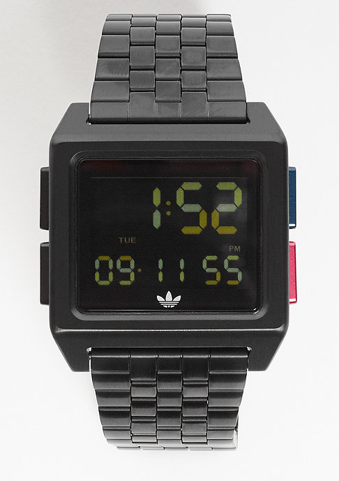 adidas Archive_M1 all black blue red