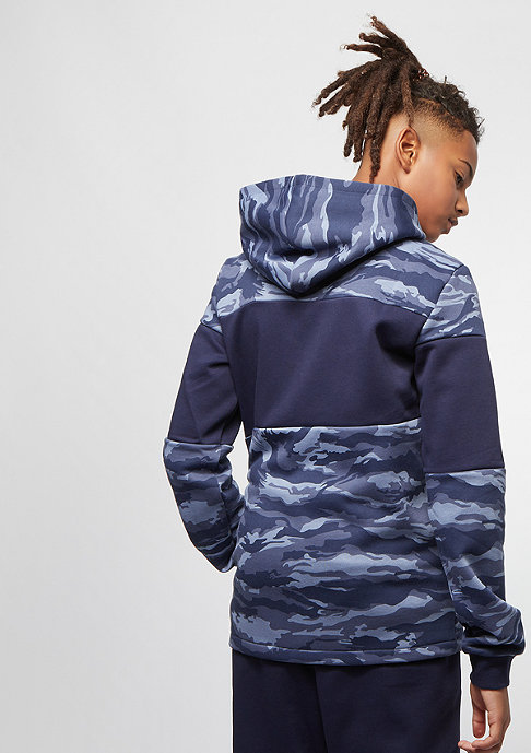 Puma Junior Dark Camo Bling Takedown AOP peacoat