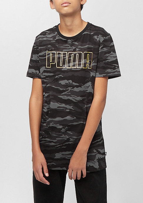Puma Junior Dark Camo Bling Takedown AOP Logo cotton black/gold