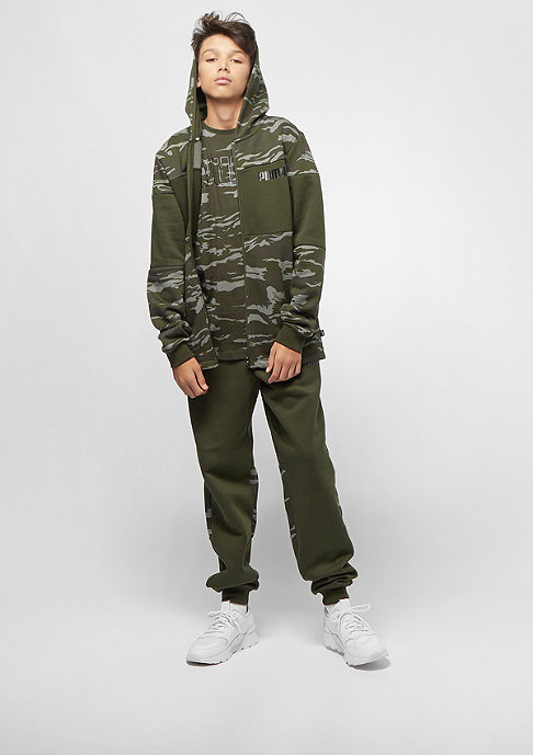 Puma Junior Dark Camo Bling Takedown AOP forest night