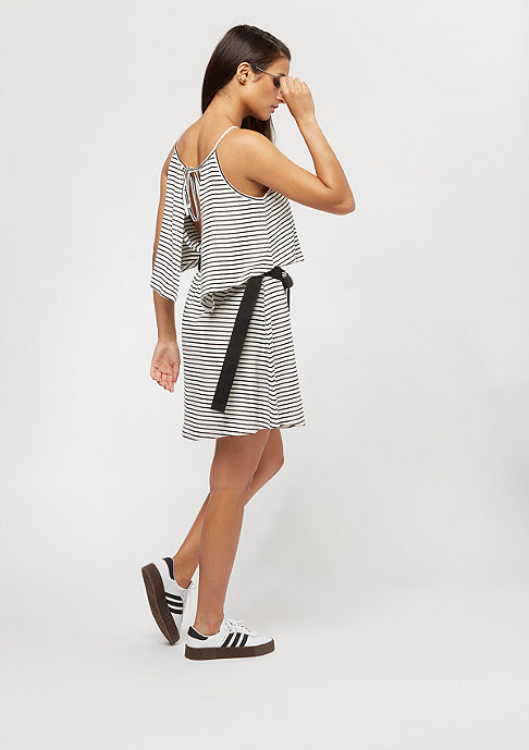 Urban Classics Ladies 2 Layer Spaghetti Dress offwhite/black