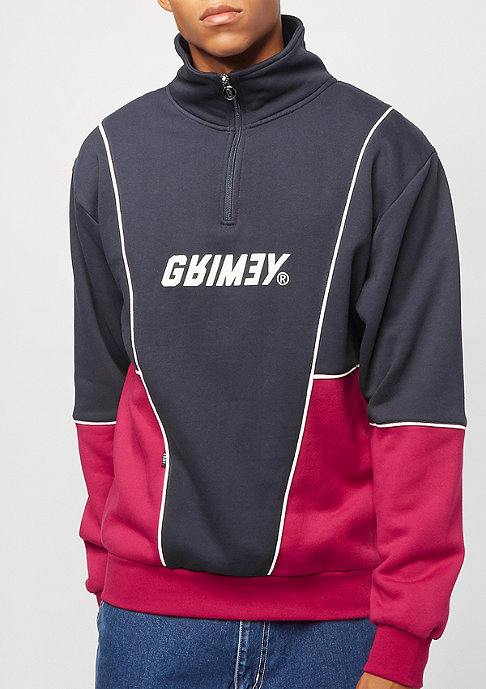 Grimey Hazy Sun High Neck Sweatshirt navy