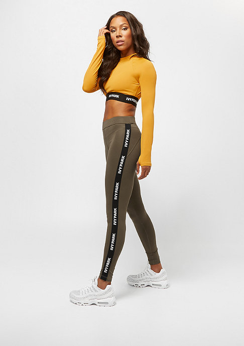 IVY PARK LS Logo Tape Crop Top golden orange