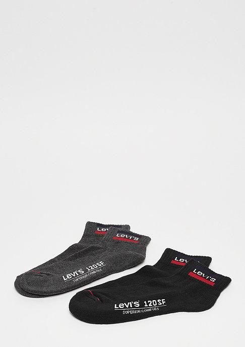 Levis 120SF Mid Cut Sportswear Logo 2 P anthracite melange/black