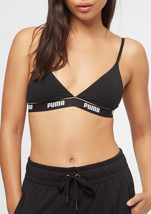 Puma Triangle Padded Bralette Ecom black/white