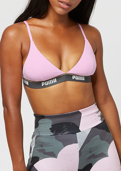 Puma Triangle Padded Bralette Ecom light pink/anthracite
