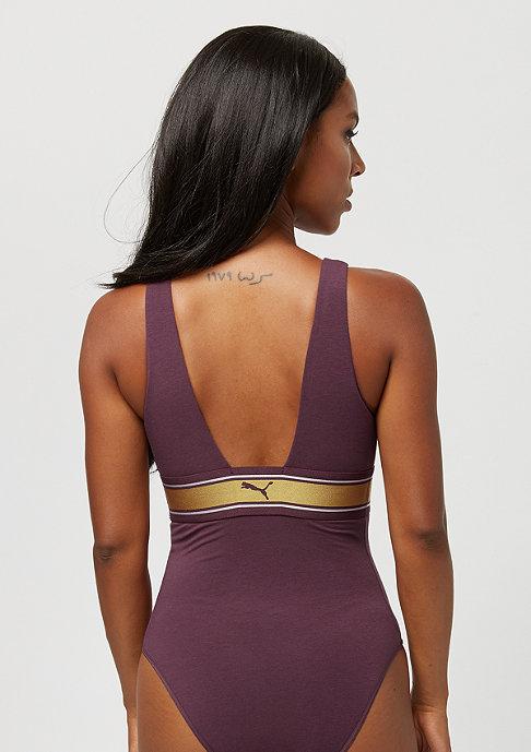 Puma High Neck Bodysuit bordeaux/gold
