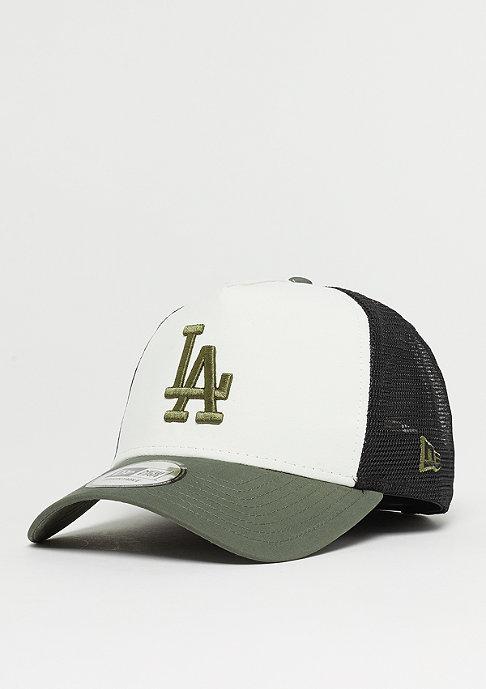 New Era 9Forty MLB Los Angeles Dodgers Nylon Trucker o wht/olv/blk