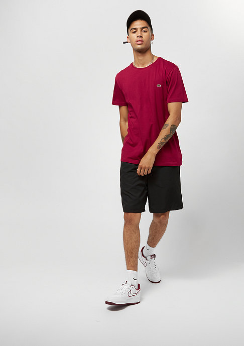Lacoste Short sleeved Crew neck tee-shirt bordeaux