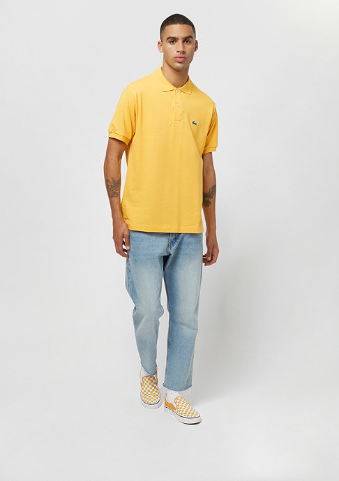 Lacoste Men short sleeved ribbed collar shirt banana