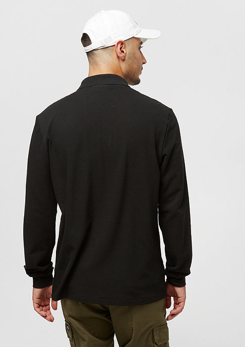 Lacoste Long sleeved ribbed collar shirt black