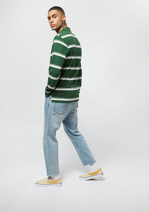 Lacoste Long sleeved ribbed collar shirtgreen/flour