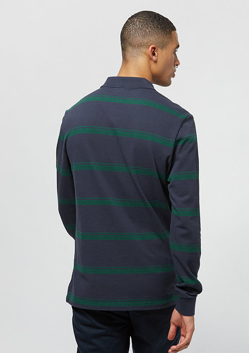 Lacoste Long sleeved ribbed collar shirt merdian blue/aconit