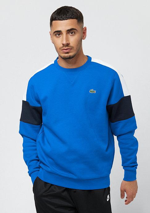 Lacoste Sweatshirt blue royal/white-navy blue