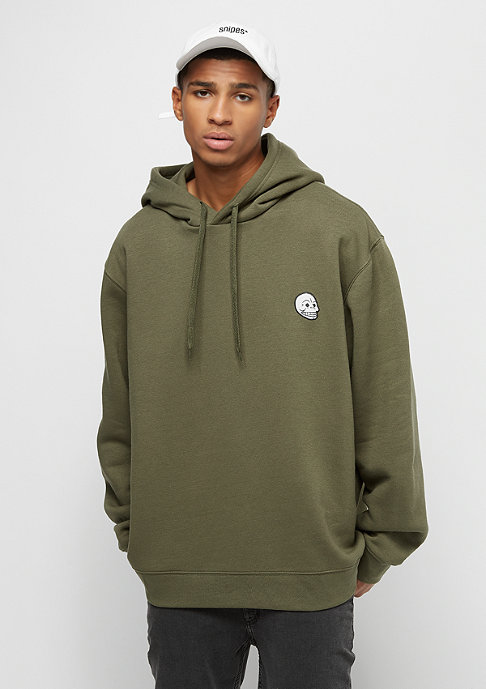 Cheap Monday Pullover hood Skull badge khaki green