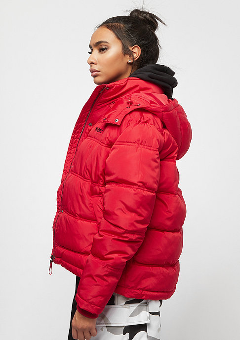 SNIPES Detachable Hood Puffer red