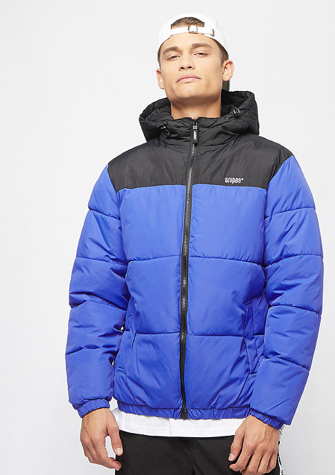 SNIPES Hooded Puffer blue/black