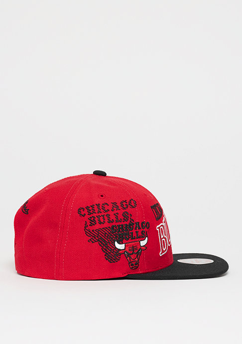 Mitchell & Ness MBA Chicago Bulls Side To Side Snap red