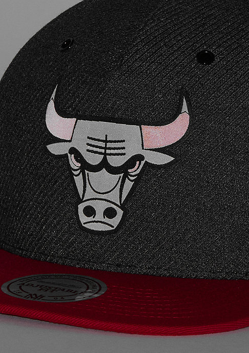 Mitchell & Ness NBA Chicago Bulls Woven Reflective charcoal/red