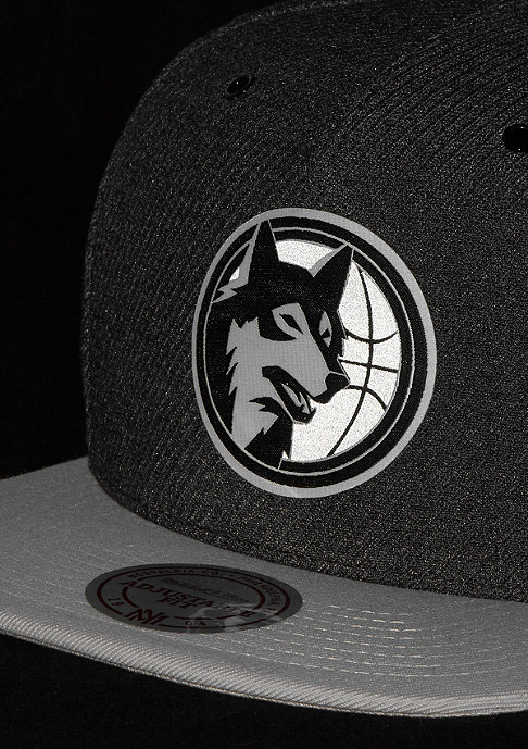 Mitchell & Ness NBA Minnesota Timberwolves Reflective Snap charcoal/grey