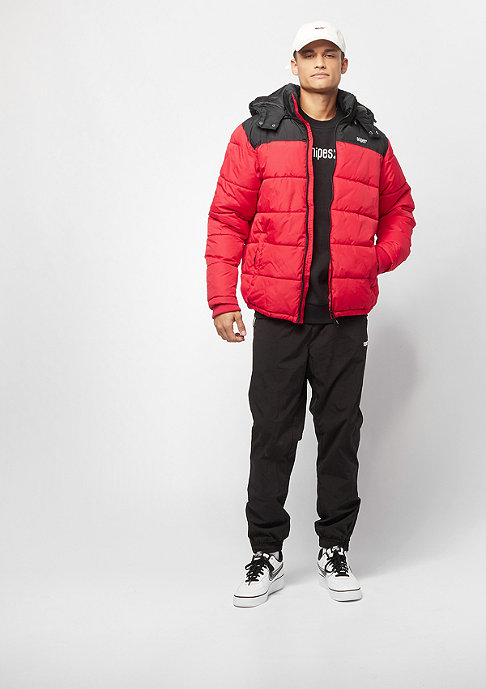 SNIPES Detachable Hood Puffer black/red
