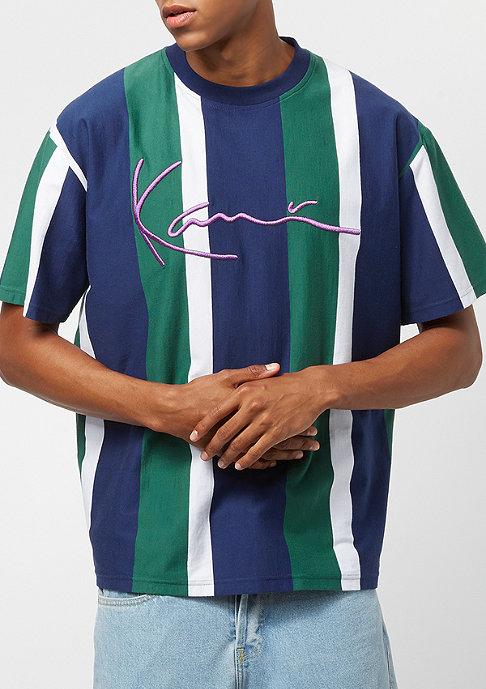 Karl Kani College Stripes blue/green/white