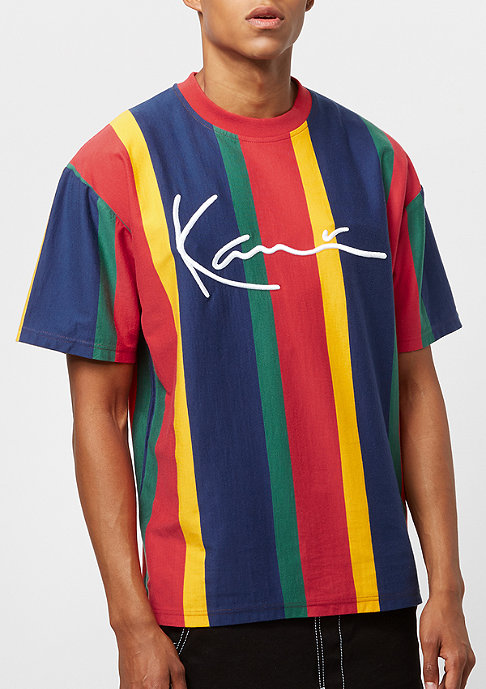 Karl Kani College Stripes red/blue/green