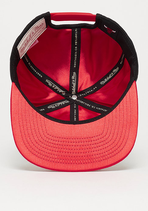 Mitchell & Ness NBA Chicago Bulls Satin Fused Snap black
