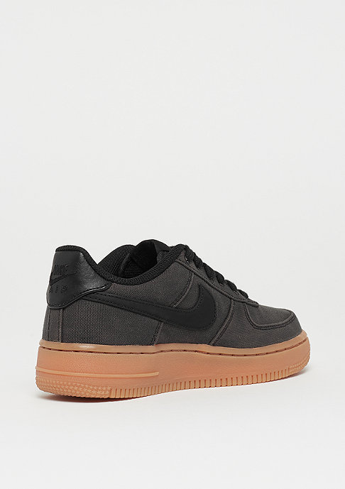 NIKE Air Force 1LV8 (GS) black/black/gum med brown