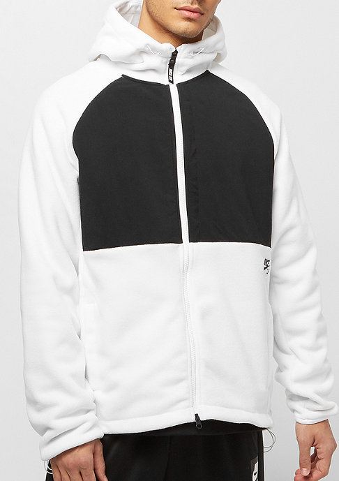 NIKE SB Polartec Winterized Full-Zip Fleece Skate Hoodie white/black/black