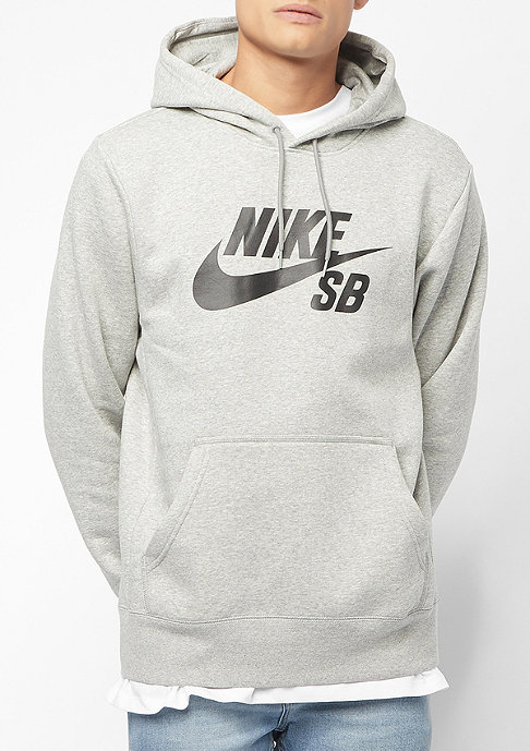 NIKE SB ICON HOODIE PO ESSNL dk grey heather/black