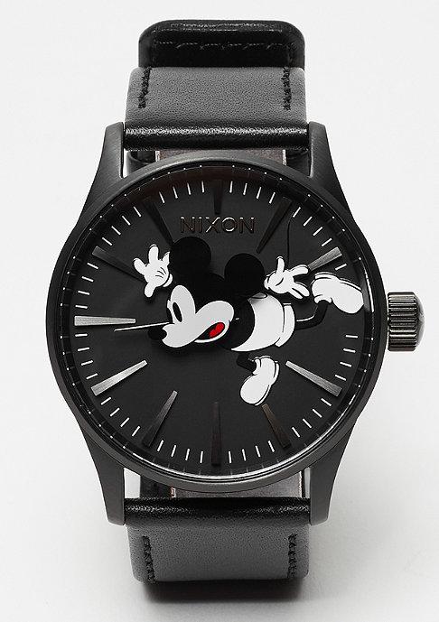 Nixon Sentry Leather all black / Mickey